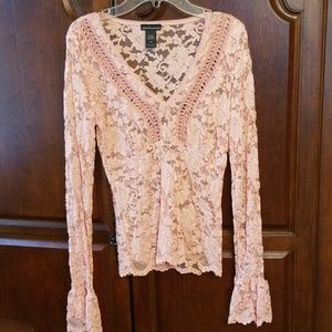 Moda International Lace long sleeve top
